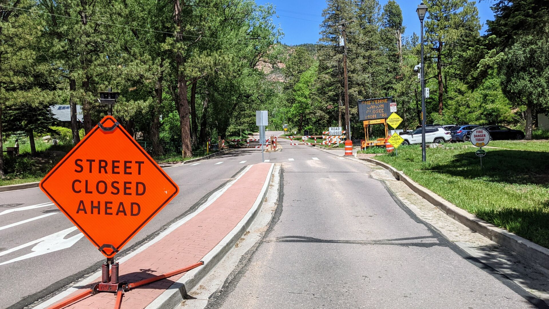 Hikers, bikers enjoy temporary construction-related road closures in North Cheyenne Cañon Park