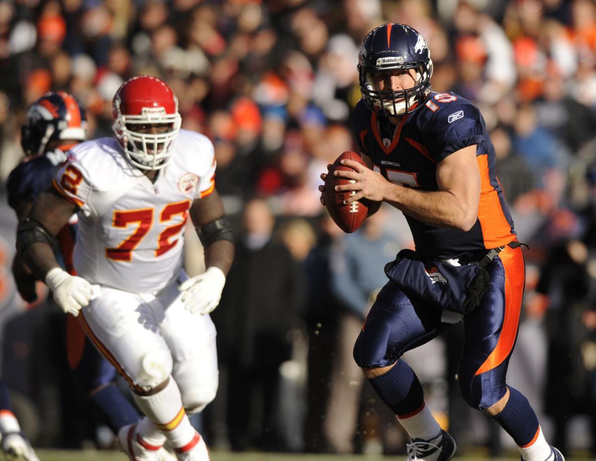 4ac619a7d BRONCOS CHIEFS. Caption +. Broncos quarterback Tim Tebow ...