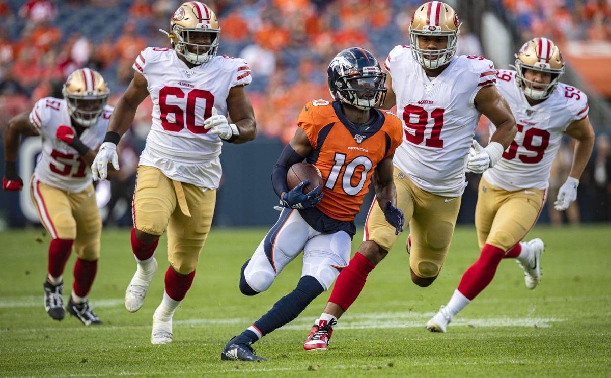 3960f35f Denver Broncos' Sanders fares better in comeback than 49ers Jimmy ...