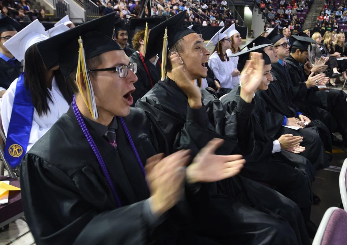 Harrison High School held a commencement ceremony for graduates at the World Arena on Thursday, May 21, 2015. (JERILEE BENNETT/THE GAZETTE)