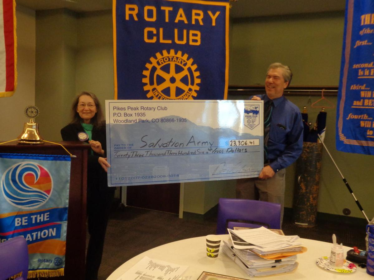 Rotarians Cathy Skiles and Ted Borden