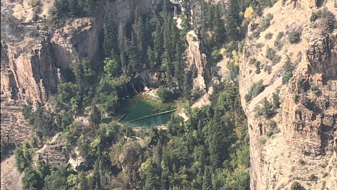 Hanging Lake after fire