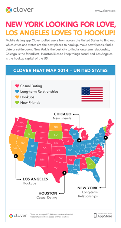 Map: Where singles are looking for love