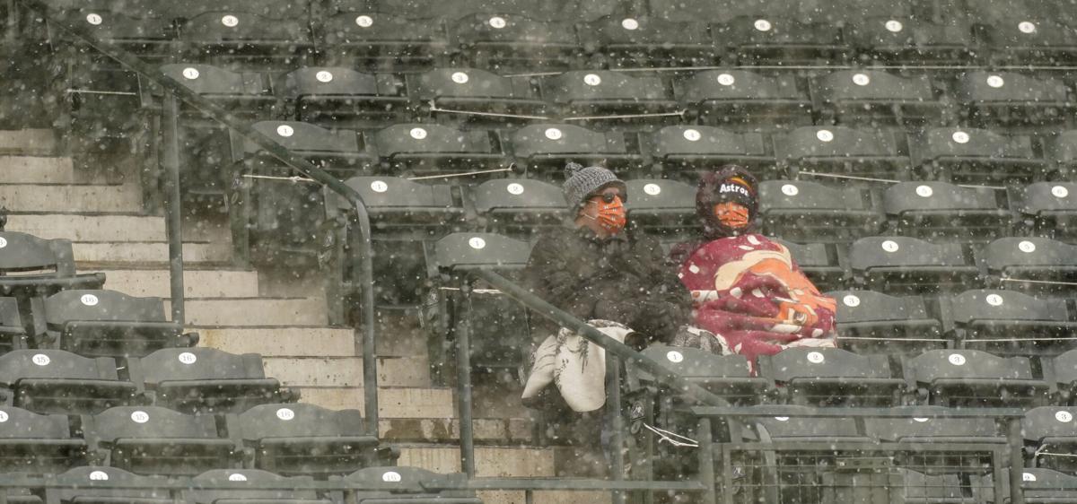 Astros Rockies Baseball snow fans