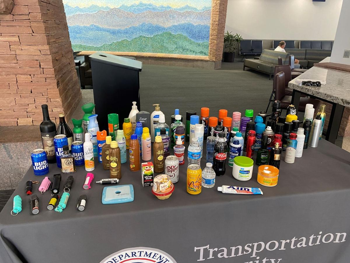 Colorado Springs Airport-items left at checkpoint