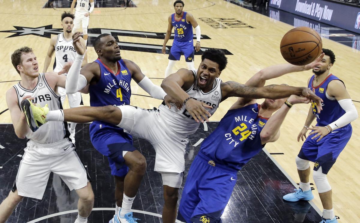 APTOPIX Nuggets Spurs Basketball