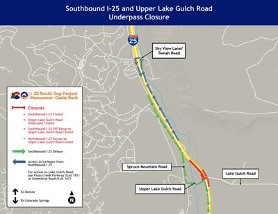 I-25 closure near Larkspur
