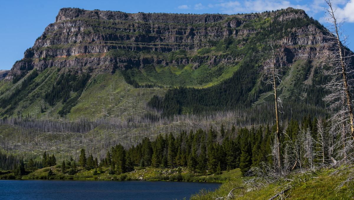The Amphitheatre in the Flat Tops Wilderness Area can be seen from Trappers Lake Tuesday, Aug. 9, 2016. (The Gazette, Christian Murdock)