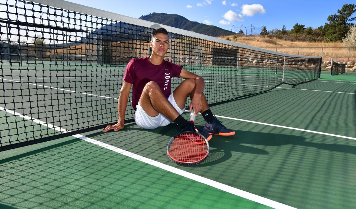 Cheyenne Mountain boys' tennis player Paul Jones