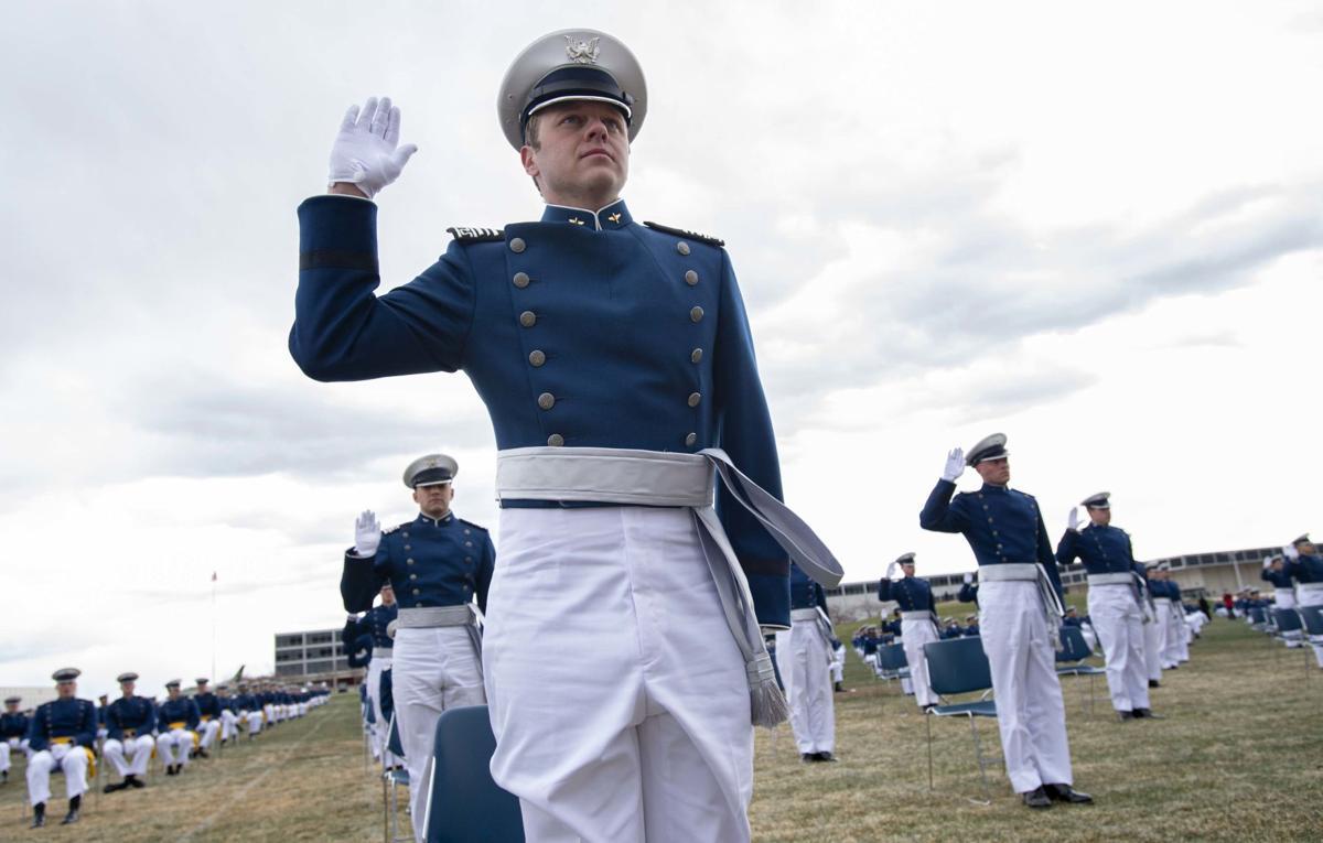 Air Force graduates nearly 1,000 seniors amid coronavirus lockdown