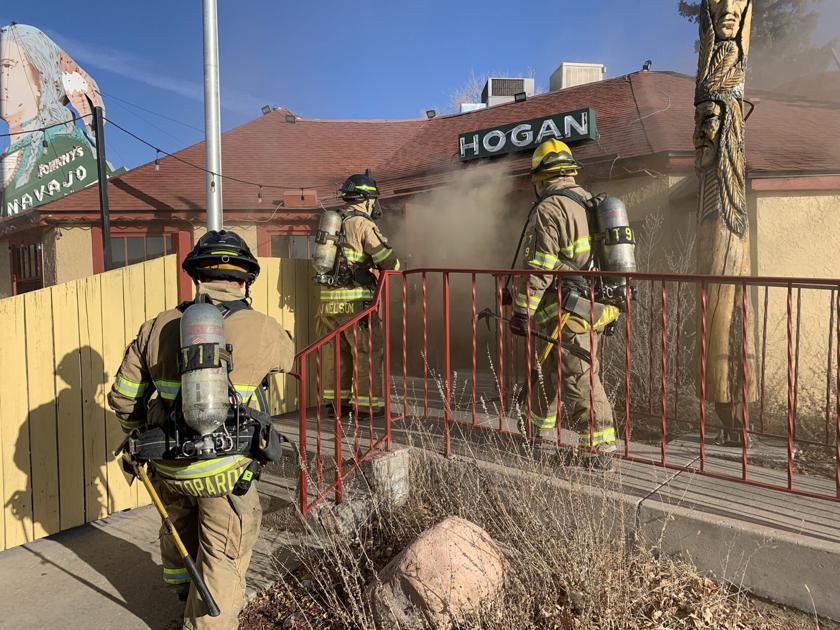 Fire breaks out in Johnny's Navajo Hogan