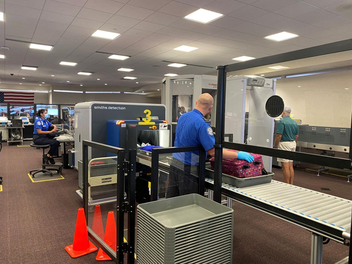 Colorado Springs Airport-CT scanner at security checkpoint