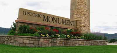 Monument town sign