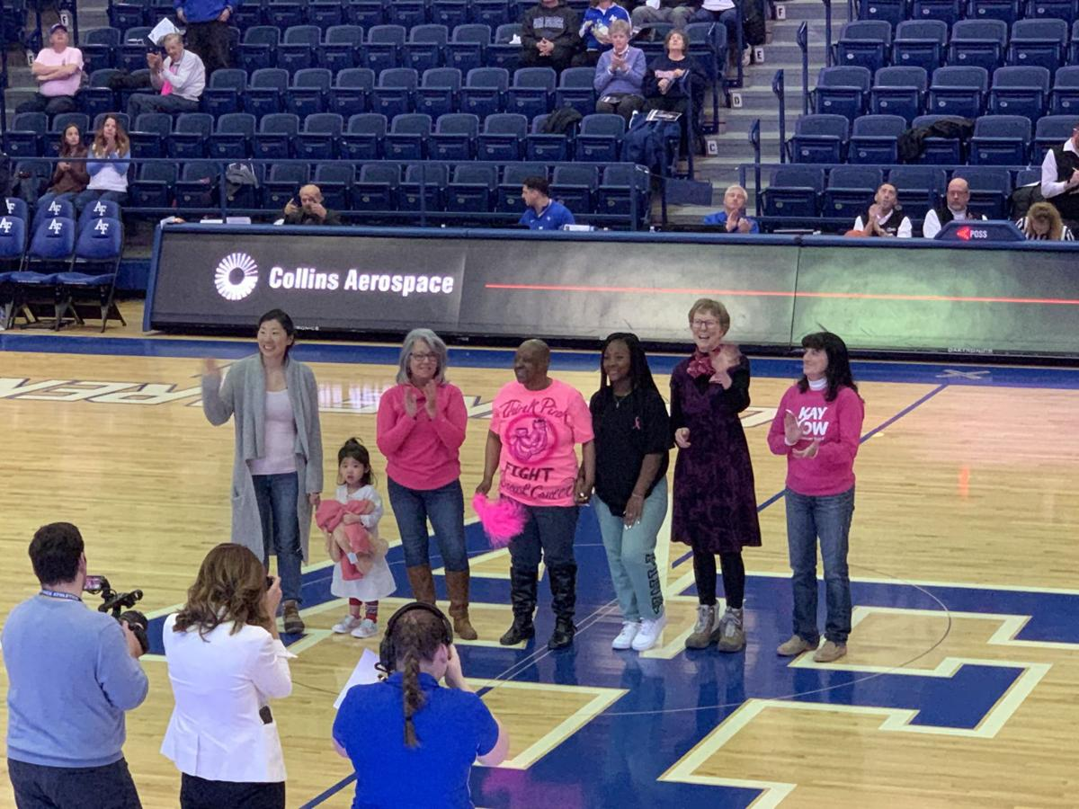 Air Force women's basketball hosts annual Pink Game for breast cancer awareness