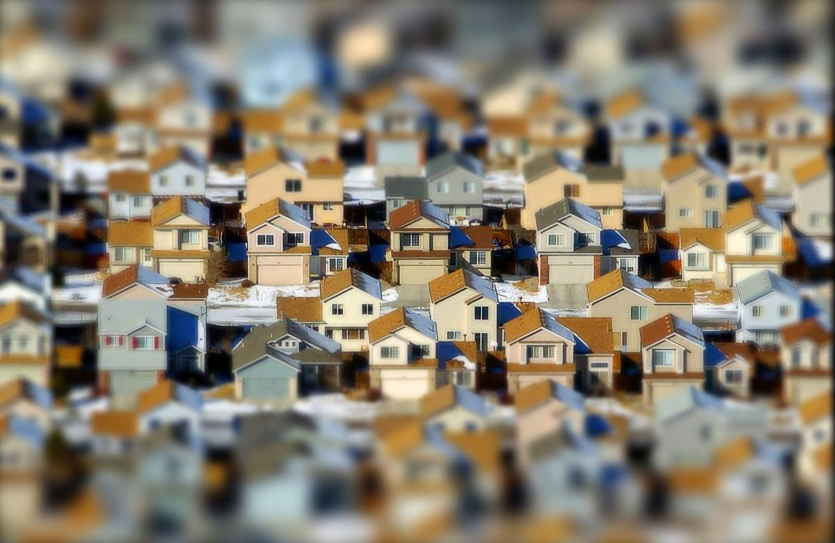 Rows of houses in northeast Colorado Springs