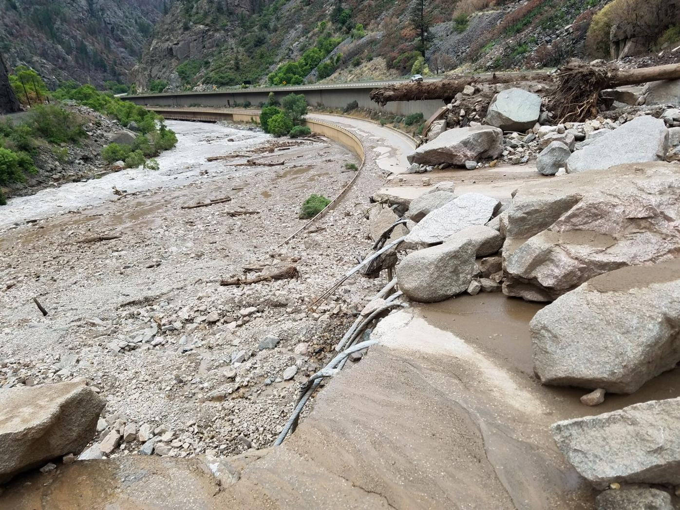 I-70 Damage from Mudslides July 2021 (Photo) Courtesy Colorado Department of Transportation