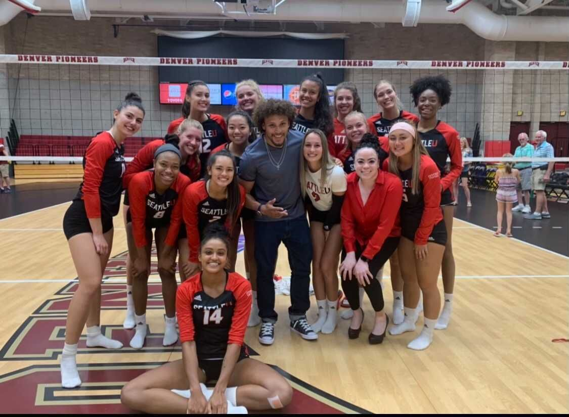 Cheri and Phillip Lindsay volleyball