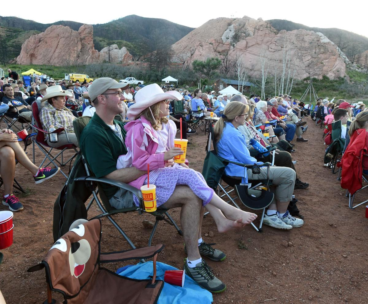The Flying W Wranglers played to crowd of several hundred at the site of the Flying W Ranch. (The Gazette/Jerilee Bennett)