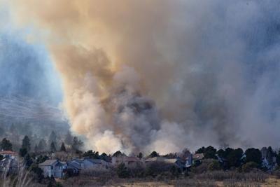Fire burning near Bear Creek Regional Park in Colorado Springs (copy) (copy)