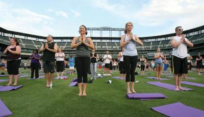 Blog: Yoga Day at Coors Field