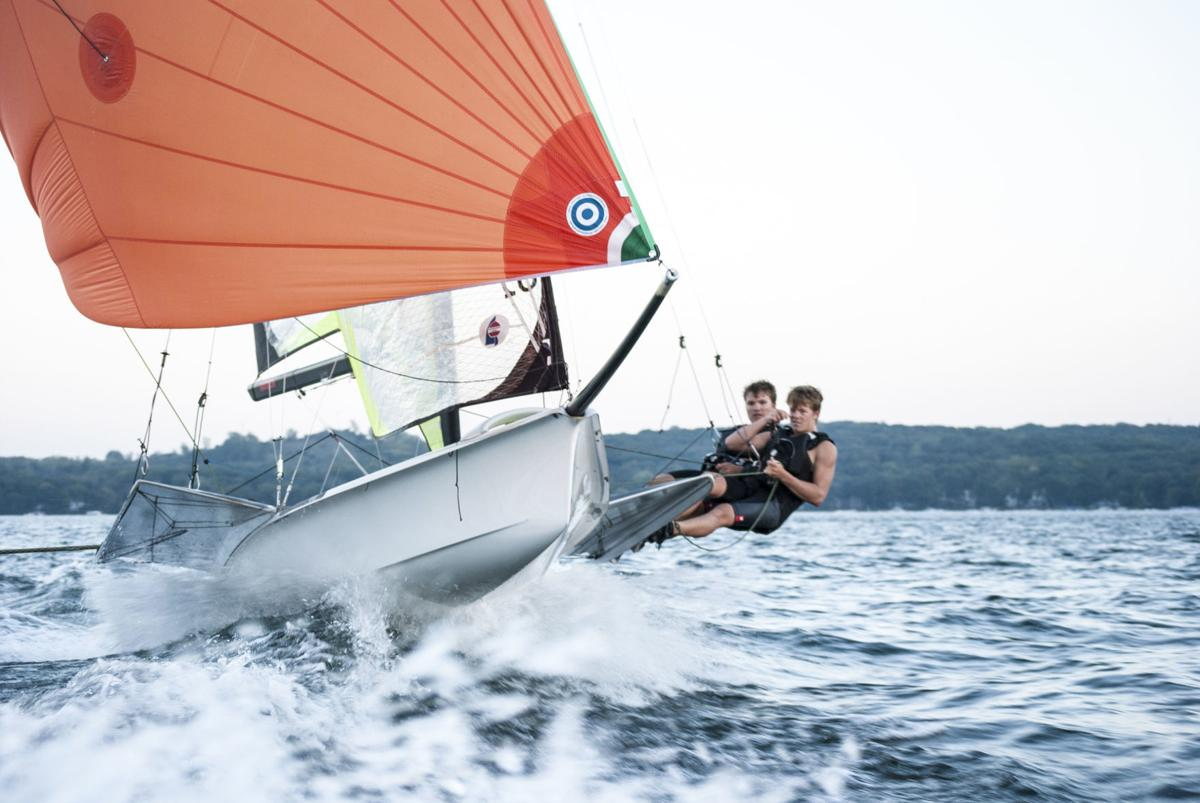 Melges IV and Rowe sailing