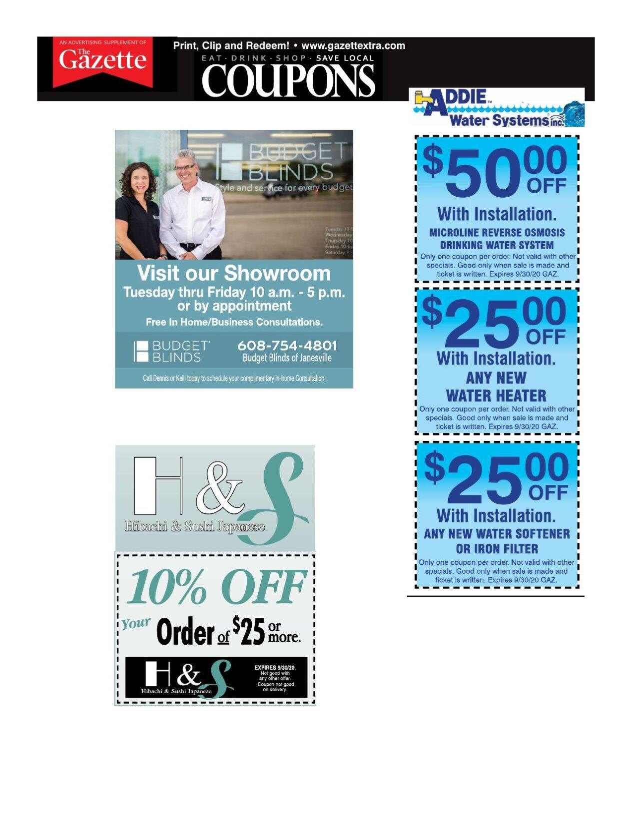 Gazette coupons