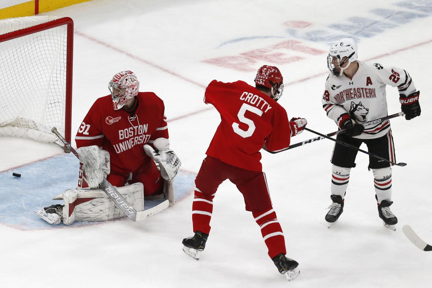 Northeastern Boston University Beanpot Hockey