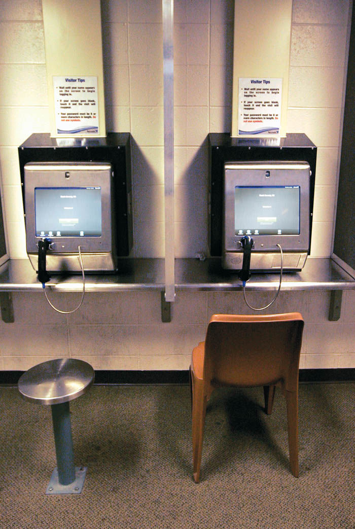 Monitor system replaces in-person visits at Rock County Jail