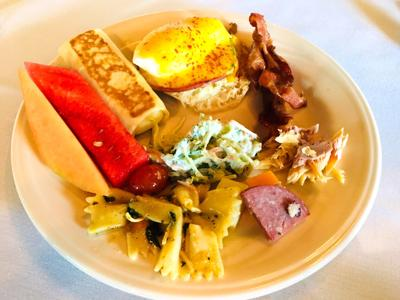 The Four Dishes Were Pleasantly Surprised By Food Selection Offered At Frontier Restaurant S Sunday Champagne Buffet During A Recent Visit To Delavan
