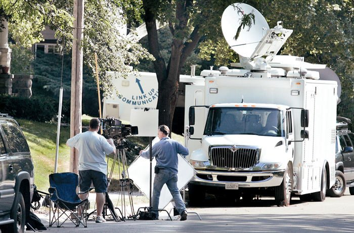 National media swarm hits St. Lawrence Avenue
