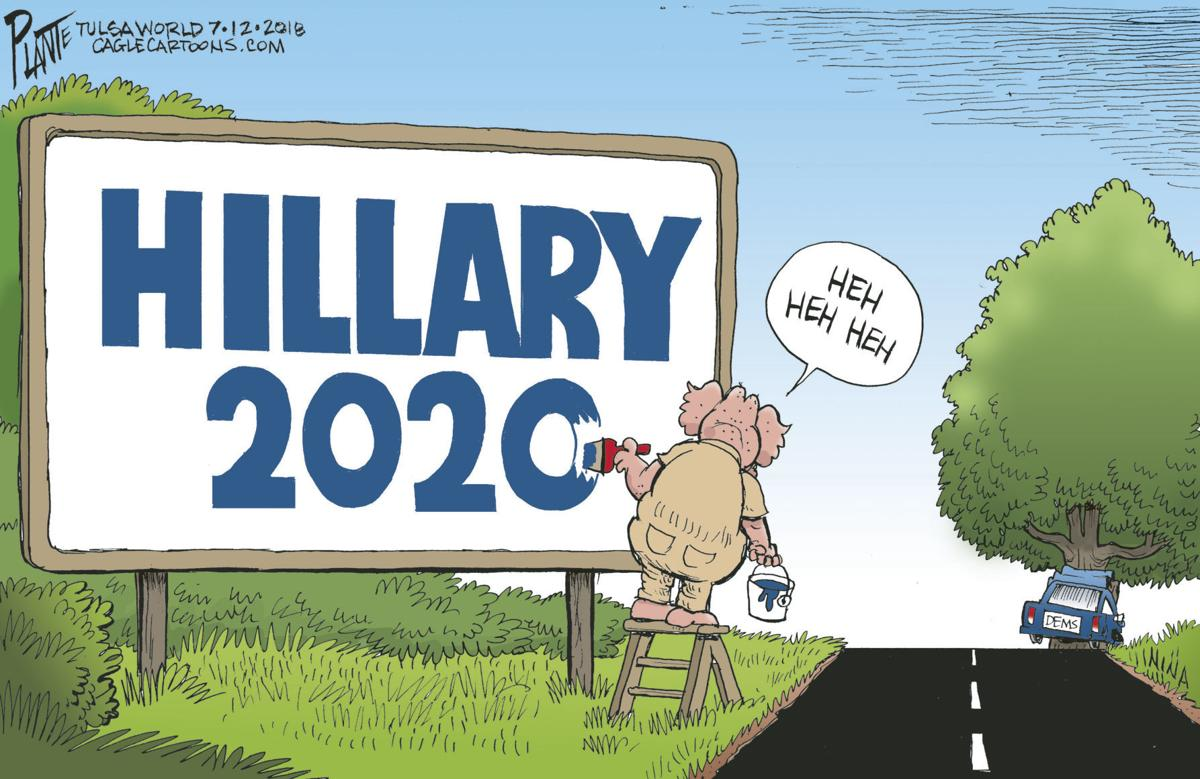 Image result for hillary 2020 cartoon