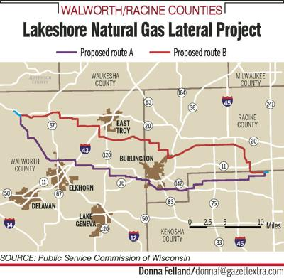 Pipeline proposal through Walworth County is revised again; more public hearings set