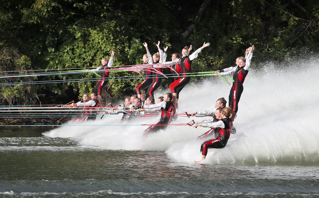 Rock Aqua Jays fall short of world record in barefoot water skiing