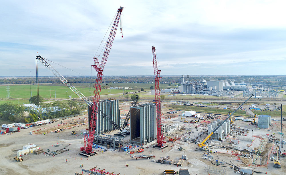 Power plant work on schedule