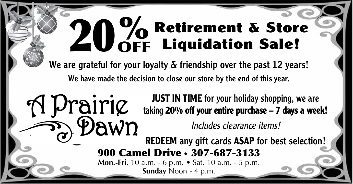 A Prairie Dawn - Retirement & Store Liquidation Sale