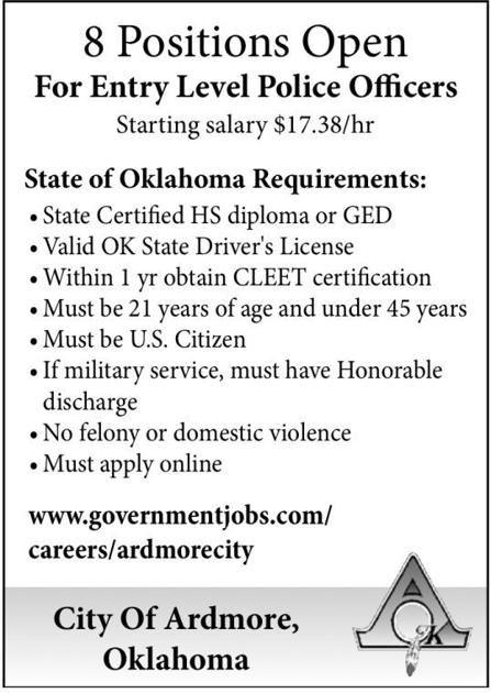 City of Ardmore, OK | Administrative, Clerical & Support