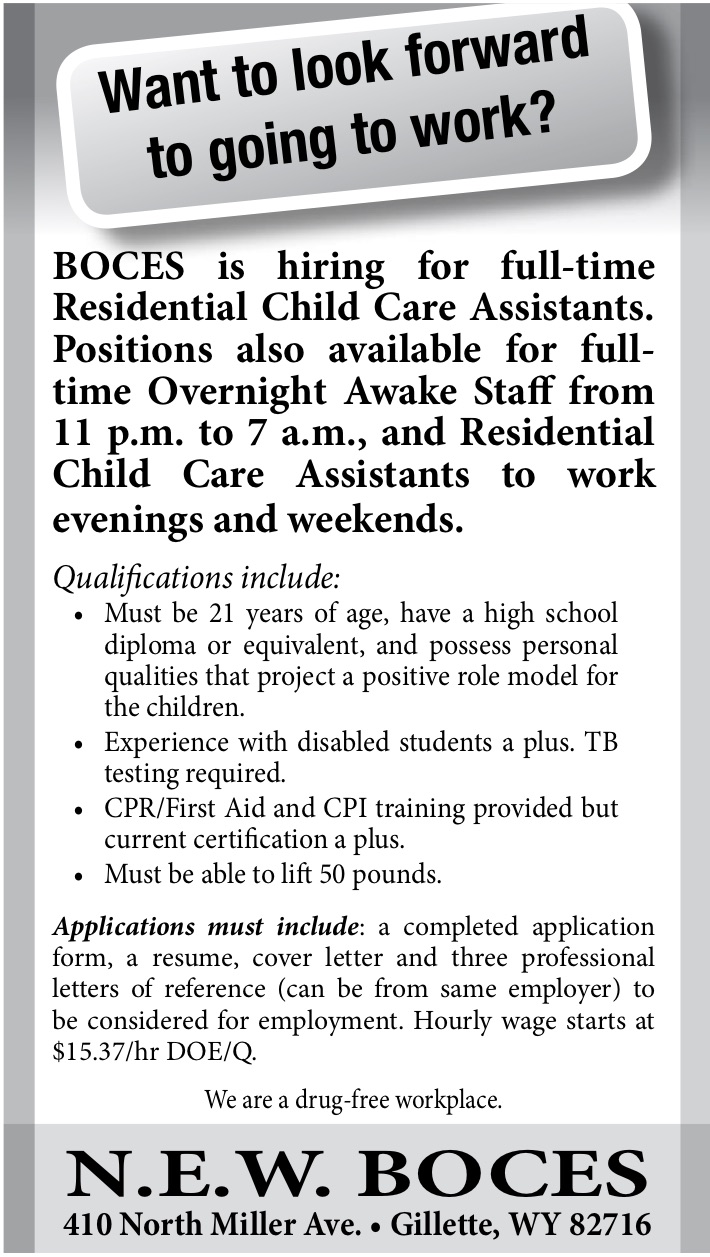 N.E.W. Boces Residential Child Care Assistants