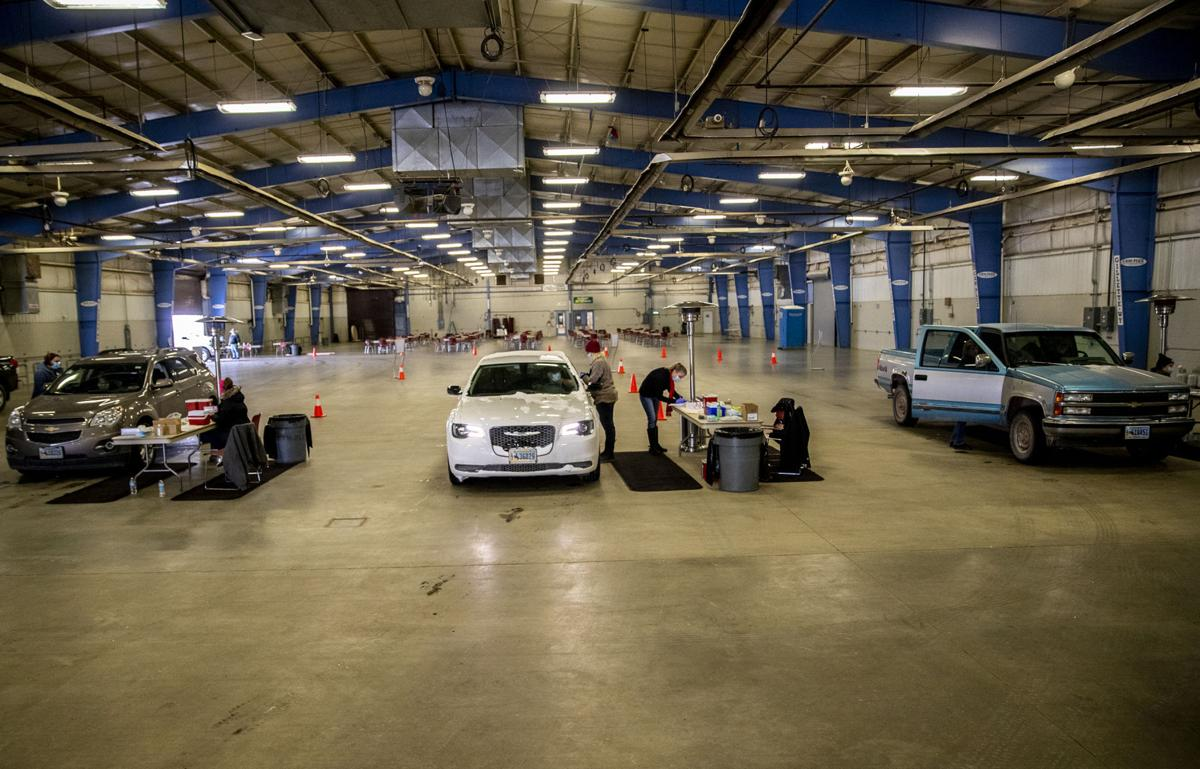 Drive-through COVID clinic