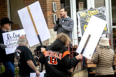 Clem speaks at protest