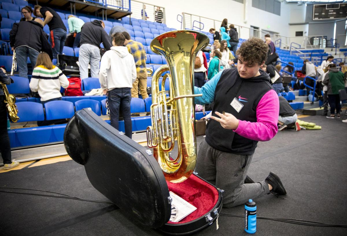 All-State Band rehearsal