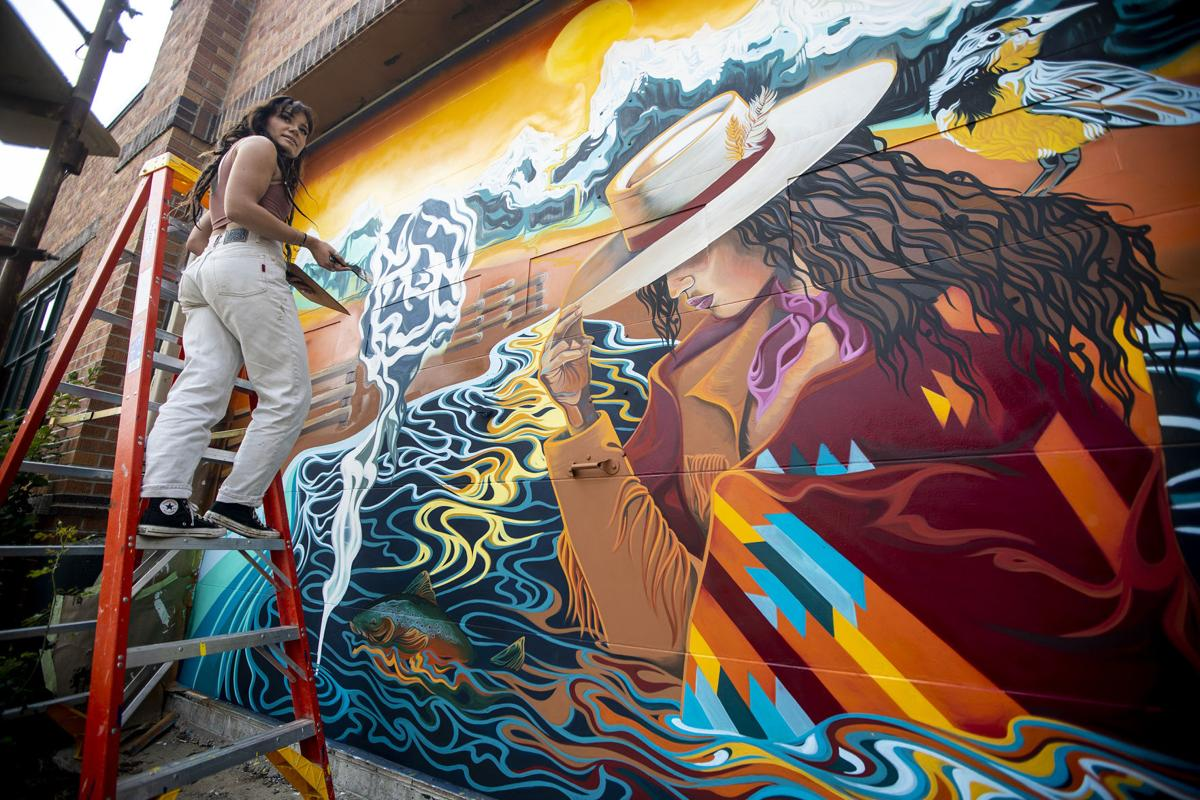 Hannah Mooney mural at Ava Art