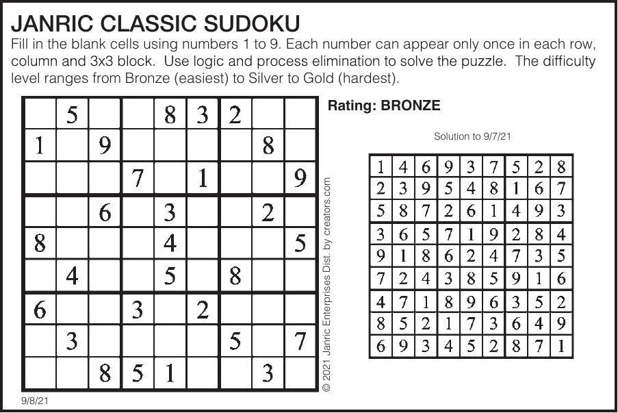 Sudoku September 8