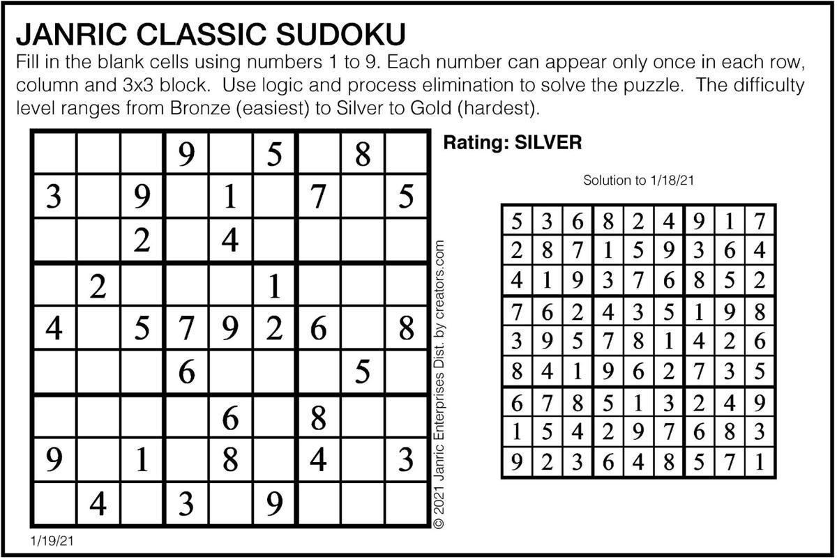 January 19 Sudoku