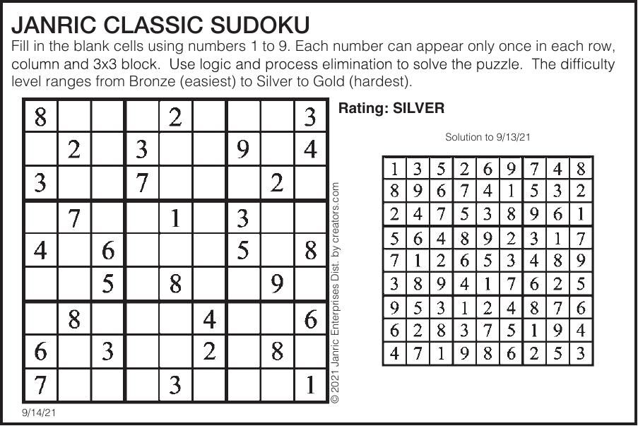 Sudoku September 14