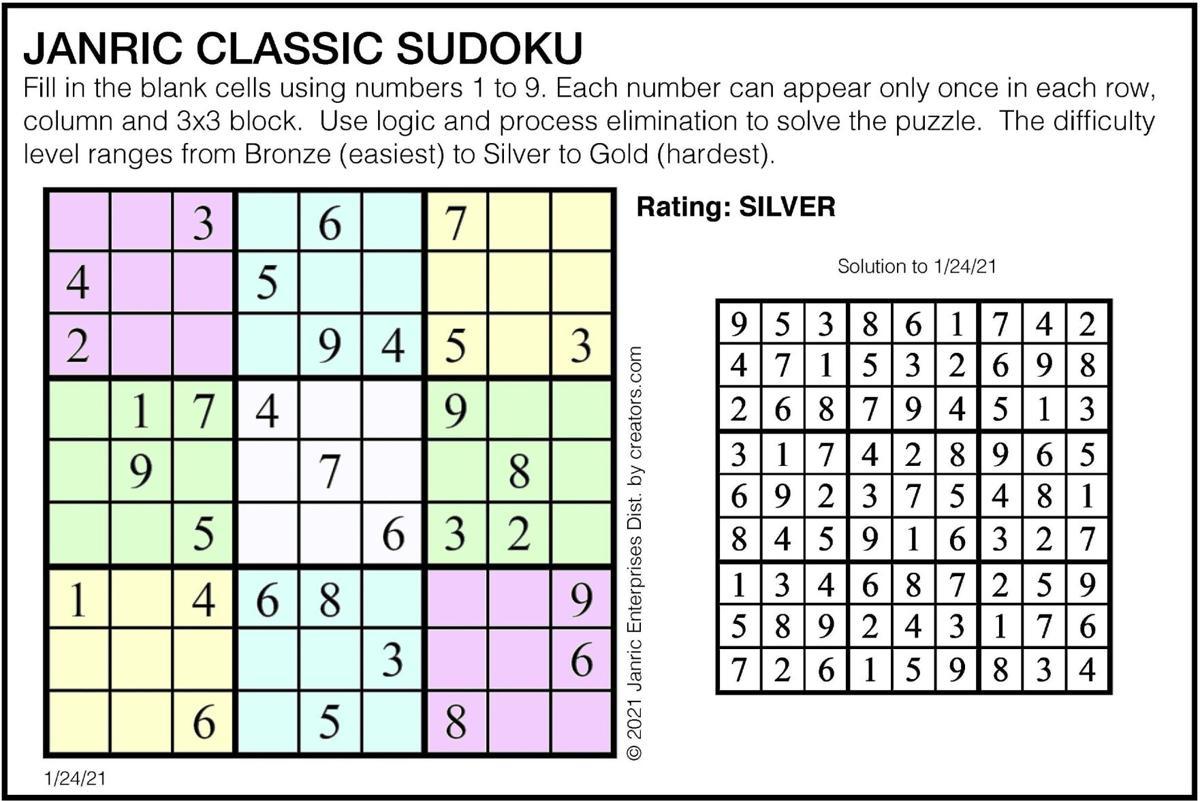 January 24 Sudoku