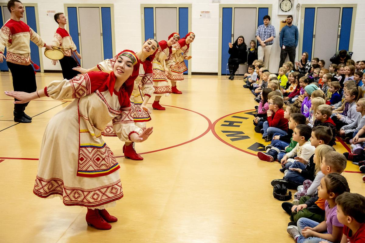Russian folk dancing