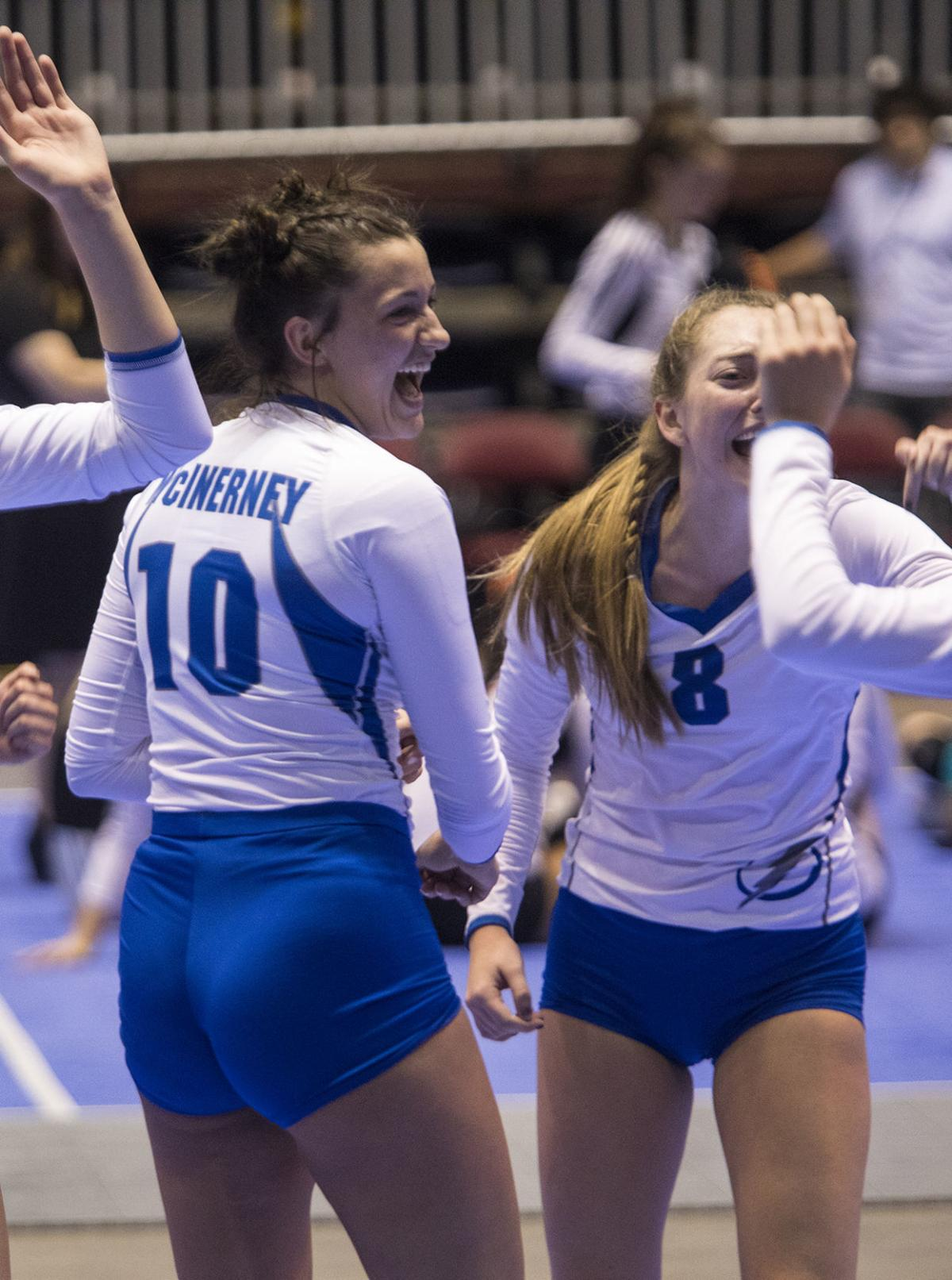 TBHS volleyball all region celebration shots