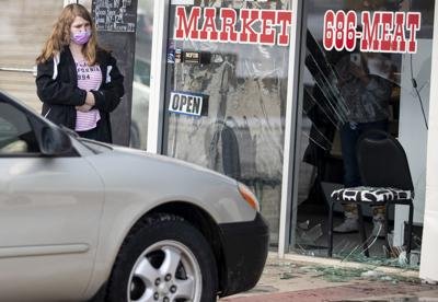 Vehicle drives into Meat Market storefront