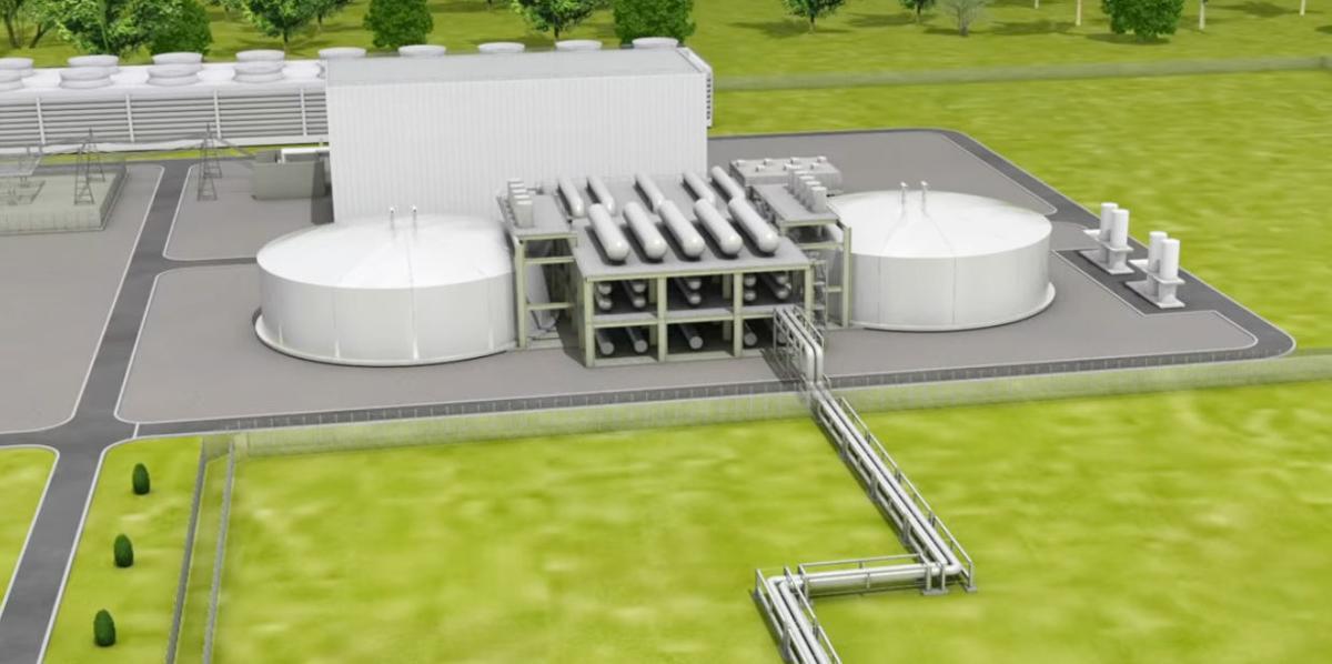Natrium reactor rendering