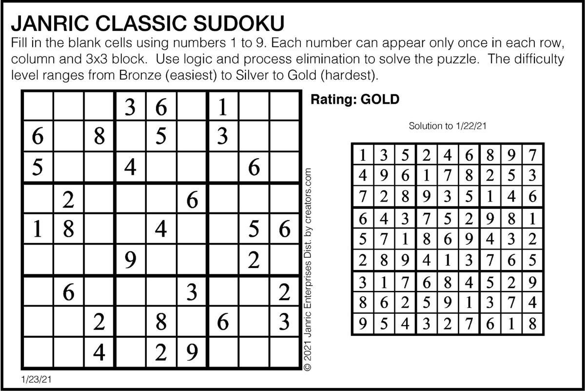 January 23 Sudoku
